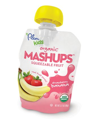 Organic Strawberry & Banana Mashups Pouch - Set of 12