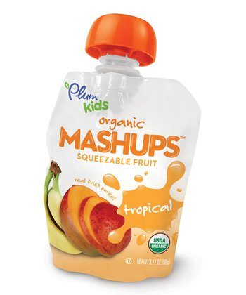 Organic Tropical Fruit Mashups Pouch - Set of 12