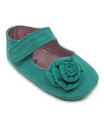 Teal Rosette Mary Jane