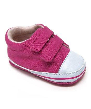Aadi Fuchsia Double-Strap Sneaker