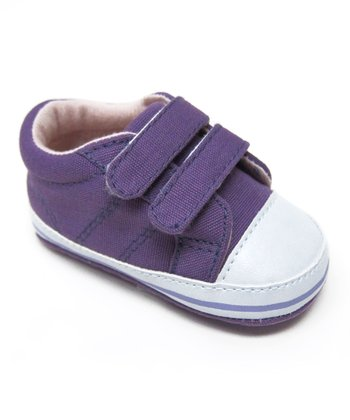 Purple Double-Strap Sneaker