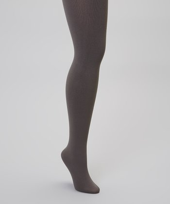 Gray Fleece-Lined Tights