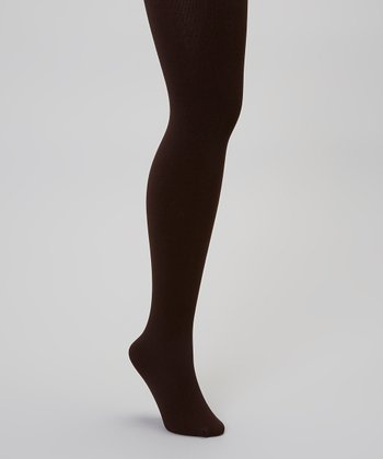 Brown Fleece-Lined Tights