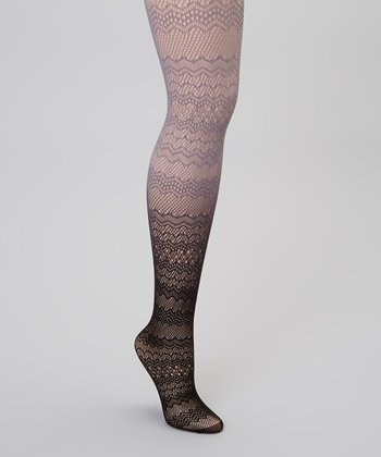 Black & Gray Ombré Fishnet Tights
