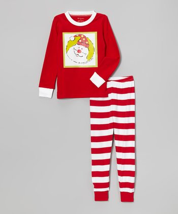 Red Santa Pajama Set - Infant, Toddler & Kids