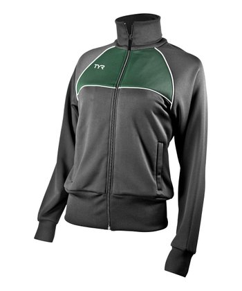 Black & Green Breakout Track Jacket - Women