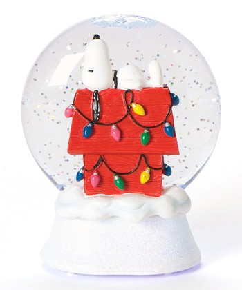 Snoopy's Christmas Doghouse Glitter Dome