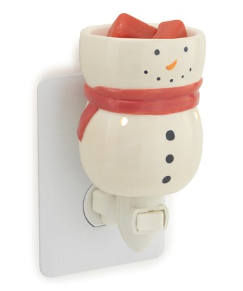 White Snowman Plug-In Wax Warmer