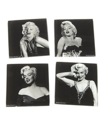 Black & White Marilyn Monroe Coaster Set