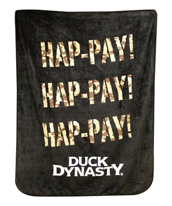Brown & Camo 'Hap-pay!' Throw