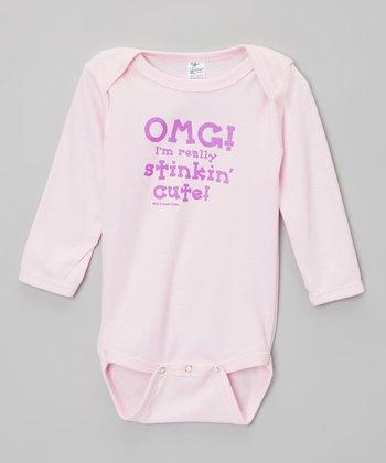 Biased, Baby Pink 'Really Stinkin' Cute' Bodysuit