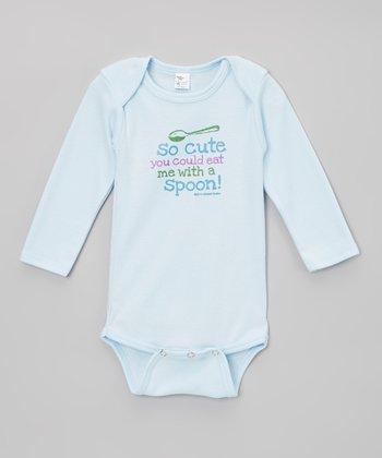 Biased, Baby Light Blue 'So Cute' Bodysuit