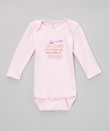 Biased, Baby Pink 'So Cute' Bodysuit