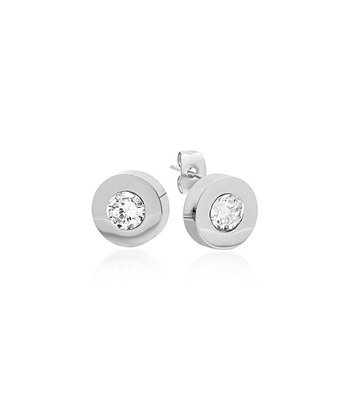 Stainless Steel Sparkle Stud Earrings