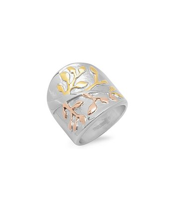 Tricolor Tree of Life Ring