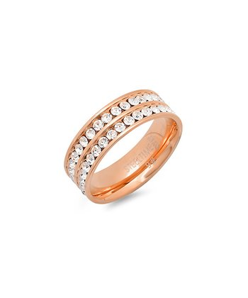 Rose Gold Sparkle Eternity Ring