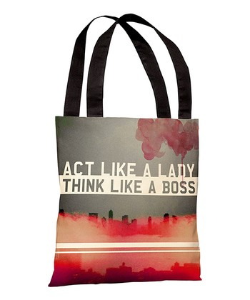 'Act Like a Lady' Tote