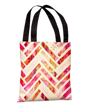 Sugar Flake Herringbone Tote