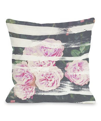Blooming Strokes Throw Pillow