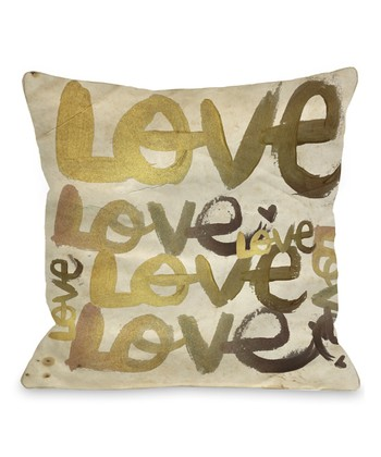 Four-Letter Word Throw Pillow