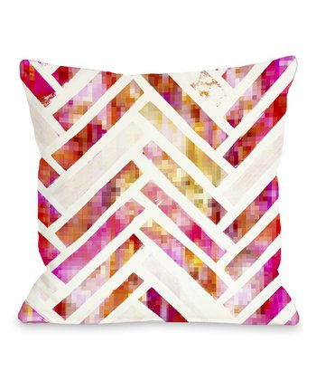 Sugar Flake Herringbone Throw Pillow