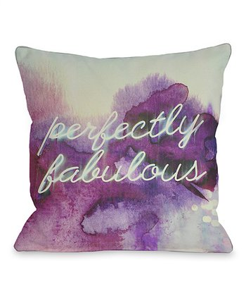 Purple 'Perfectly Fabulous' Throw Pillow