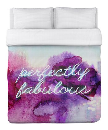 Purple 'Perfectly Fabulous' Duvet Cover