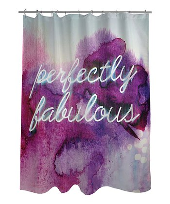 Purple 'Perfectly Fabulous' Shower Curtain