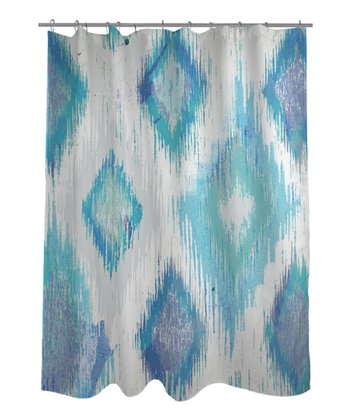 Ivory & Blue Del Mar Shower Curtain