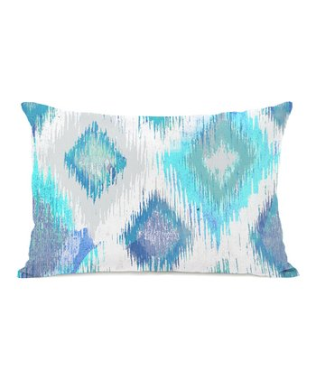 Ivory & Blue Del Mar Rectangular Throw Pillow