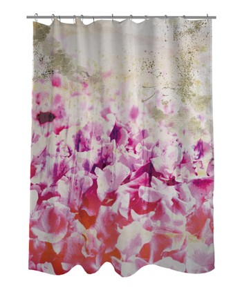 Pink & Gold Spring Shower Curtain