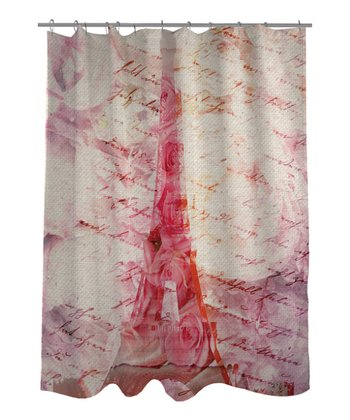 Pink Love Letters Shower Curtain