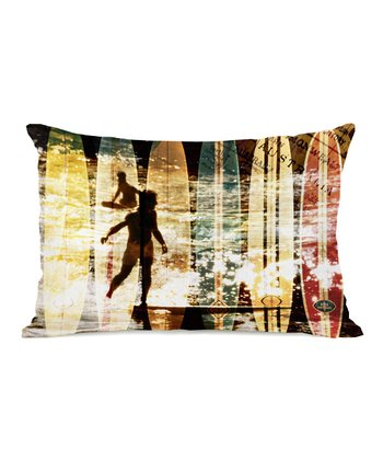 Surfing Australia Rectangular Throw Pillow