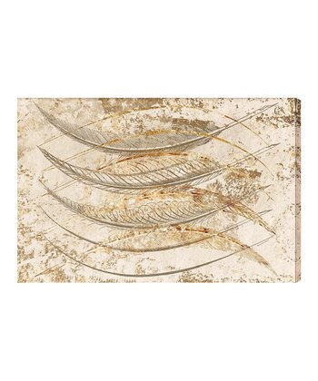 Gold Feathers Wall Art