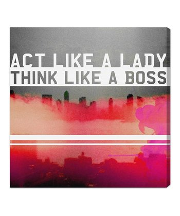 'Act Like a Lady' Wall Art