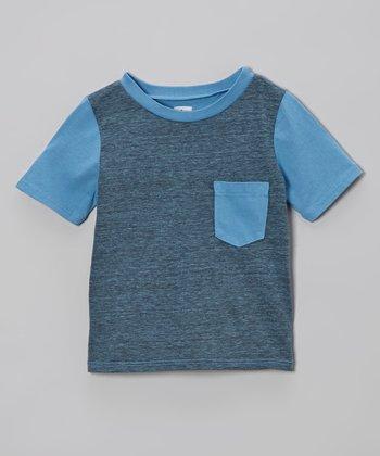 Sky Blue Pocket Tee - Infant