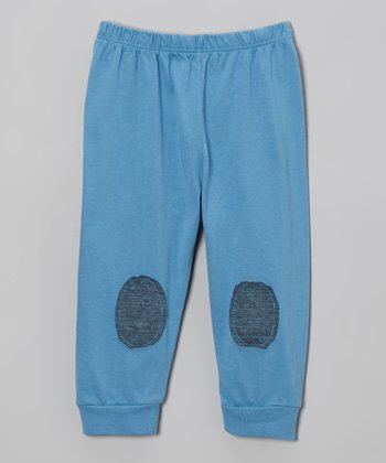 Lake Park Kids Sky Blue Patch Pants - Infant