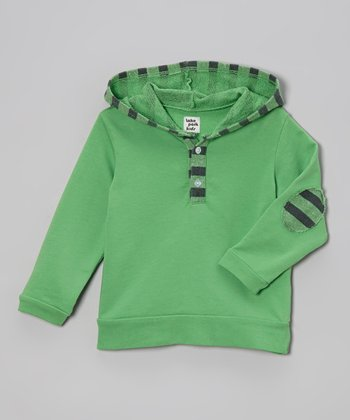 Lake Park Kids Rugby Green Stripe Pullover Hoodie - Infant