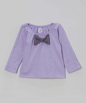 Grape Bow Top - Infant