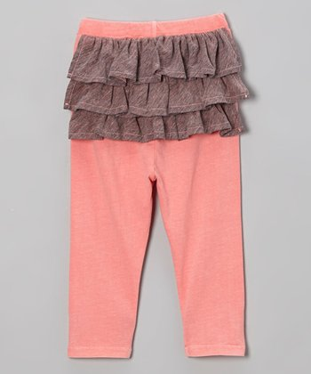 Flamingo Pink Ruffle Leggings - Infant