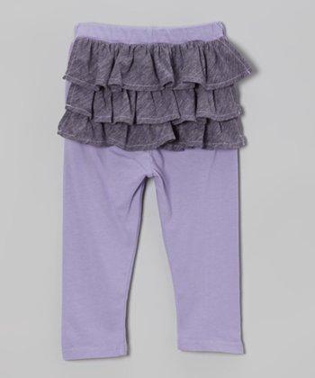 Grape Ruffle Leggings - Infant
