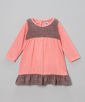 Flamingo Pink Ruffle Dress - Infant