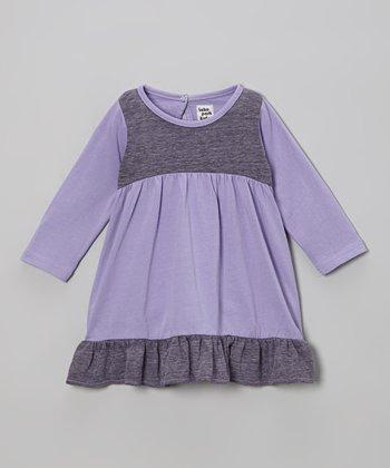 Grape Ruffle Dress - Infant
