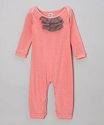 Flamingo Pink Ruffle Romper - Infant
