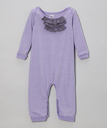 Grape Ruffle Romper - Infant