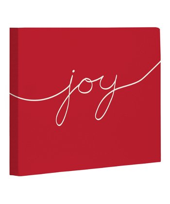 Red & Ivory 'Joy' Canvas