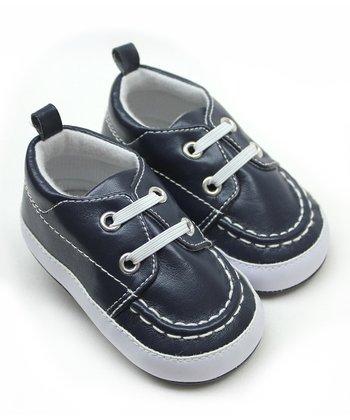 Tender Toes Navy & White Sneaker