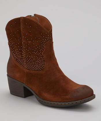 Brown Suede Ambrosia Cowboy Boot
