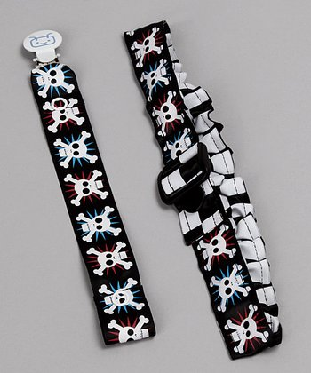 Skull Reversible Cinch Belt & Soother Saver