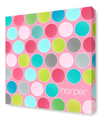 Pink Paint Cans Personalized Canvas